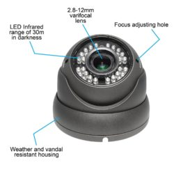 R-Tech 700TVL Outdoor Dome Security-2